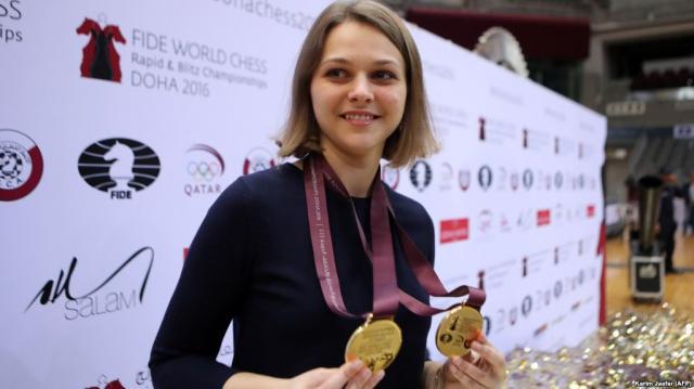 Anna Muzychuk a Doha, in Qatar, 2016