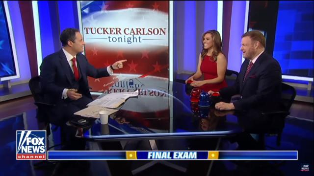 Lisa after gaining the lead in the midst of the exam. [Fox News/YouTube screencap]