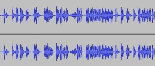 Il grafico di una registrazione audio