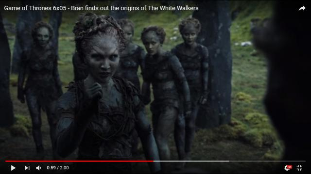The Children of the Forest create the White Walkers / Image via Kristina R, YouTube screencap