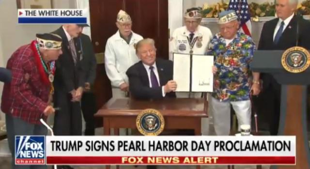Donald Trump on Pearl Harbor Day, via Twitter