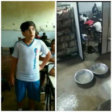 José Luiz fala sobre a situação de sua escola (Reprodução/Youtube)