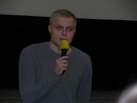 Karol Bernacki podczas spotkania z widzami (fot. Krzysztof Krzak)