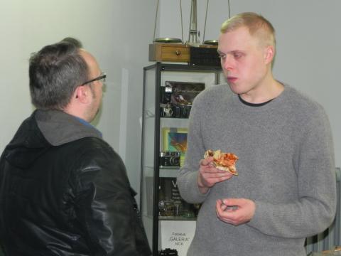 Po seansie można było swobodnie porozmawiać z aktorem (fot. Krzysztof Krzak)