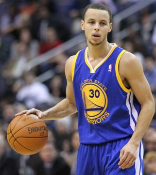Steph Curry is very confident in his teammates. Photo by Keith Allison from Wikimedia Commons