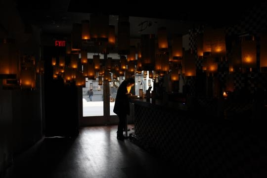 The lanterns are on display in Crown Heights, Brooklyn. / Photo via Jessica Maffia, used with permission.