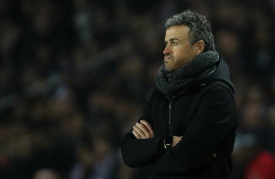 Luis Enrique, durante el partido entre el Paris Saint-Germain y el FC Barcelona