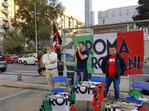 Forza Nuova e Roma ai Romani alla Magliana