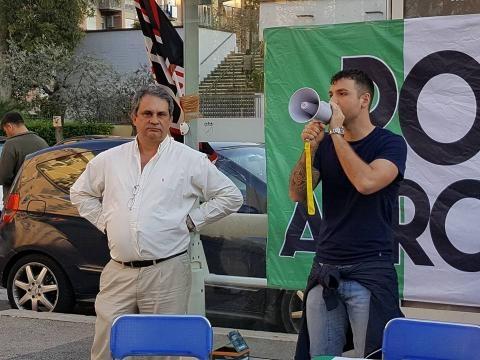 Il Segretario Nazionale di Forza Nuova Roberto Fiore con Alessio Costantini