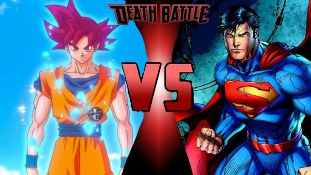 Goku fights with Superman - fan made