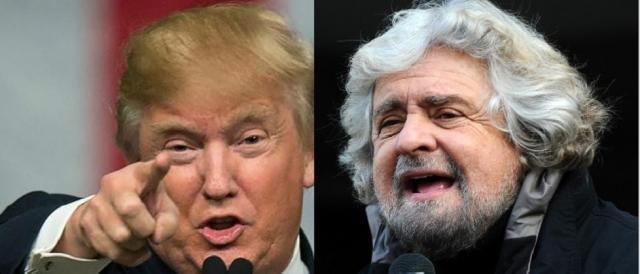 Donald Trump e Beppe Grillo, scalate politiche similari ed opposte problematiche di coerenza