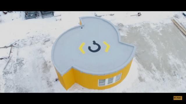 Ein Haus frisch aus dem 3D-Drucker - Quelle: Apis Cor