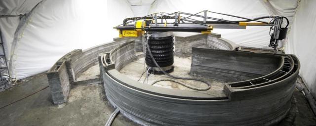 Haus aus dem 3D-Drucker - Ein mechanischer Maurer im 24 Stunden-Einsatz Quelle: Apis Cor