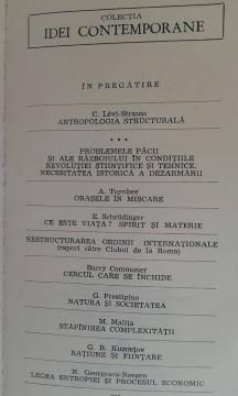 Levi-Strauss, Toynbee si Schrodinger au fost publicați la Editura Politică