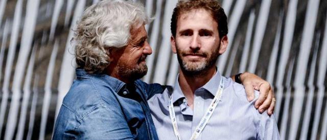Beppe Grillo in compagnia di Davide Casaleggio