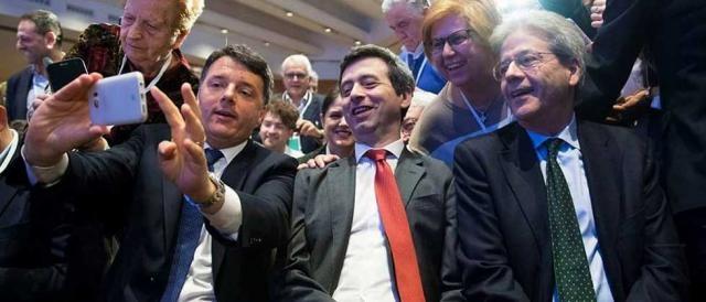 Matteo Renzi, Andrea Orlando e Paolo Gentiloni