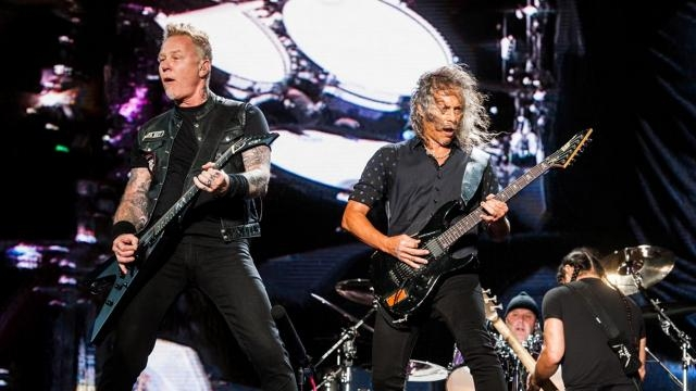 Metallica en pleno show (Fuente: Infobae)