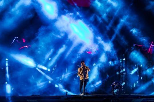 The Weeknd en el segundo día del Lollapalooza Argentina 2017.