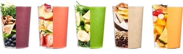 Miksowane owoce i warzywa na zdrowie (fot. daily-harvest)