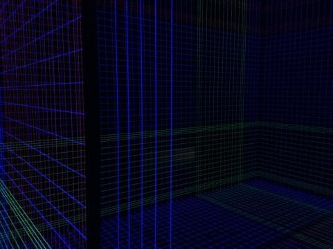El reflejo de la luz y la fluorescencia dan juego a un laberinto de la percepción estética.