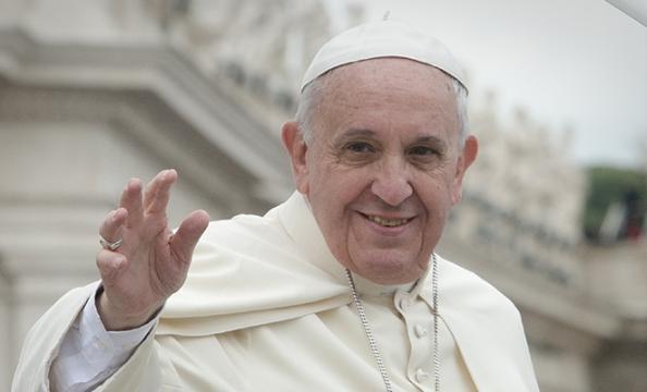 Papa Francesco in visita a Genova