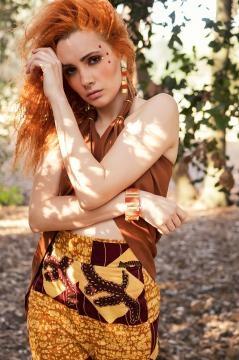 Un abito della collezione My Vision indossato da Verdiana Meneghini