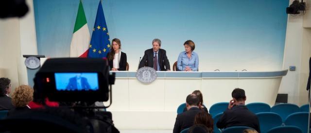 Un altro momento della conferenza stampa tenutasi a Palazzo Chigi (governo.it)