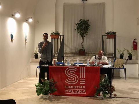 Nico Bavaro al primo congresso a Trani di Sinistra Italiana