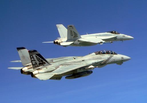 Un avion de vânătoare al SUA de tip FA -18 Super Hornet, a doborât un avion SU-22 al armatei siriene - Foto: Wikimedia
