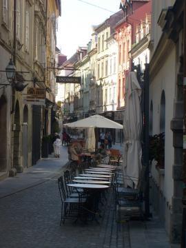 Jedna z uliczek w Lublanie (fot. Krzysztof Krzak)
