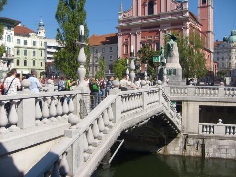 Most Potrójny w Lublanie (fot. Krzysztof Krzak)