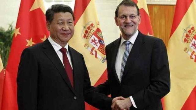 Rajoy junto al presidente chino