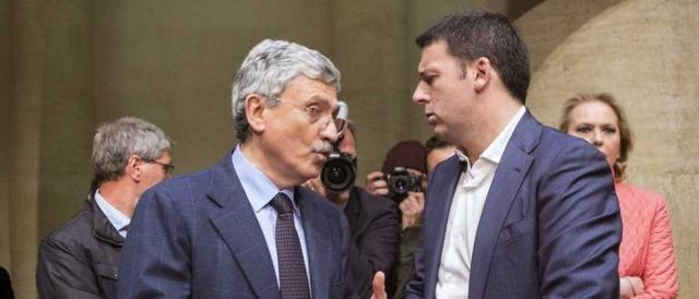 I due nemici Massimo D'Alema e Matteo Renzi
