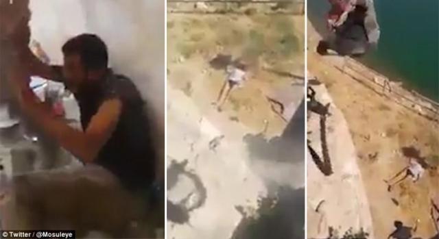 Un video arată cum militanții ISIS sunt aruncați de pe clădiri și împușcați de către trupele irakiene - Foto: Daily Mail (@mosuleye - Twitter)