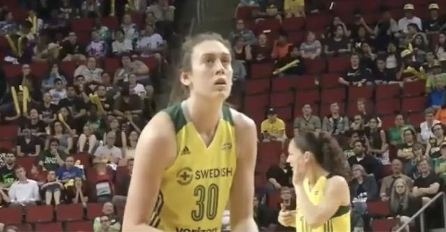 Breanna Stewart and the Seattle Storm host the Atlanta Dream on Saturday's WNBA schedule. [Image via Campus Girl/WNBA/YouTube]