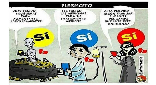 Caricatura de Alex Almarza sobre la consulta popular venezolana del 16 de Julio.
