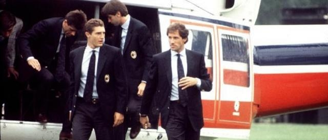 L'arrivo in elicottero del primo Milan di Silvio Berlusconi nell'estate del 1986