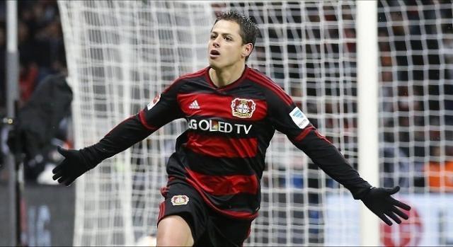 Chicharito Hernández jugador del Bayer Leverkusen