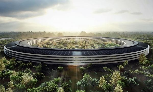 Noul sediu al Apple, din Cupertino (California, SUA)