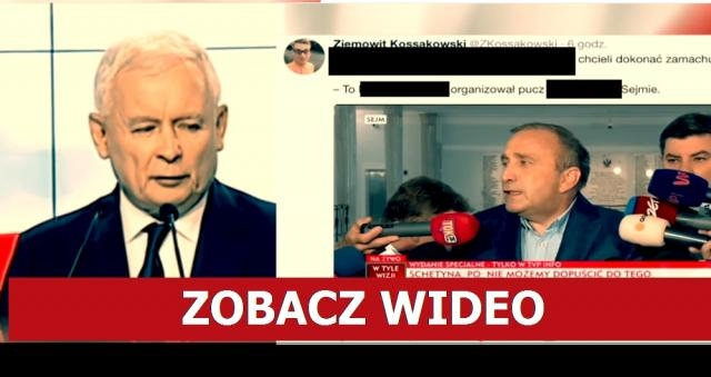 Jarosław Kaczyński i Grzegorz Schetyna (źródło: TVP Info).