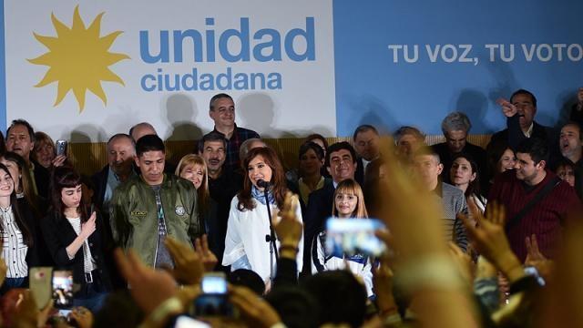 Cristina cerrando su acto en la Universidad de la Matanza