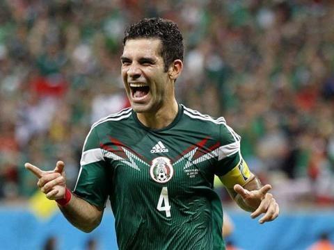 Rafael-Márquez-Tri festejando su gol en el Mundial 2014