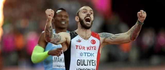 Il turco Ramil Guliyev, campione del mondo dei 200 metri