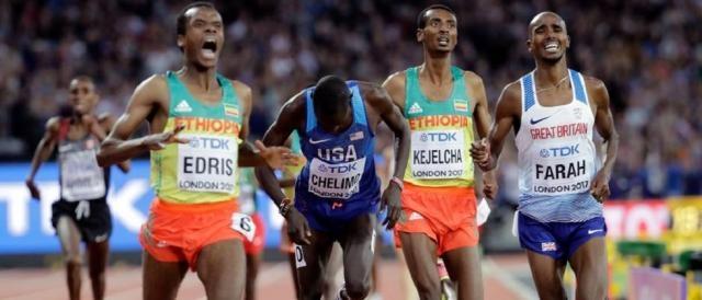 L'etiope Muktar Edris è il nuovo campione del mondo dei 5.000 metri