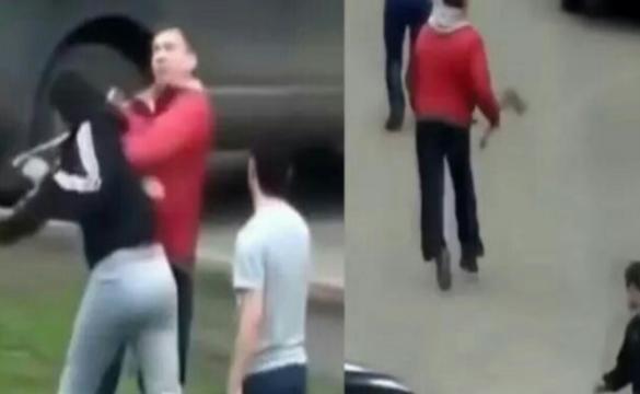 Rosjanin walczy z muzułmanami (źródło: youtube.com).