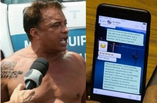 Foto montadem do deputado Wladimir Costa e conversa pelo WhatsApp (Foto internet)