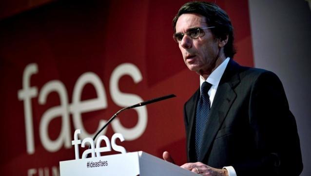 José María Aznar en FAES. Public Domain.