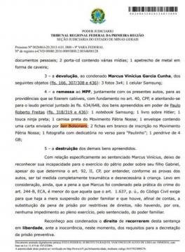 Inicial da ação sobre a suposta ligação de Bolsonaro com os neonazistas