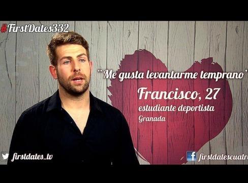 Francisco en el programa First Dates