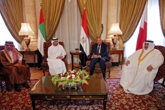 Reunión de los ministros de exteriores de los cuatro paises que impusieron el bloqueo a Qatar